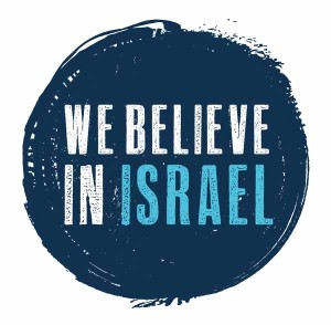 We believe in Israel logo